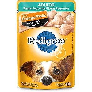 Ração Úmida Pedigree Sachê Frango ao Molho para Cães Adultos de Raças Pequenas