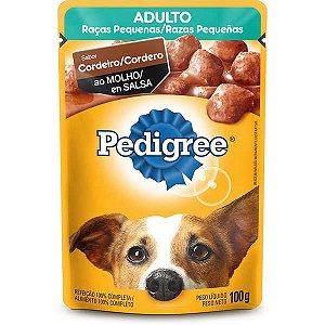 Ração Úmida Pedigree Sachê Cordeiro ao Molho para Cães Adultos de Raças Pequenas
