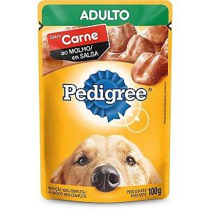 Ração Úmida Pedigree Sachê Carne ao Molho para Cães Adultos