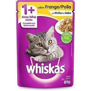 Ração Úmida Whiskas Sachê Frango ao Molho para Gatos Adultos