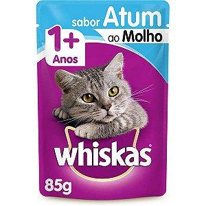Ração Úmida Whiskas Sachê Atum ao Molho para Gatos Adultos