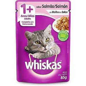 Ração Úmida Whiskas Sachê Salmão ao Molho para Gatos Adultos