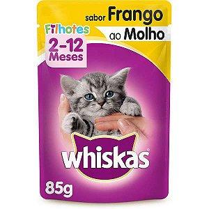 Ração Úmida Whiskas Sachê Frango ao Molho para Gatos Filhotes