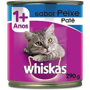 Ração Úmida Whiskas Lata Patê de Peixe para Gatos Adultos - 290 g