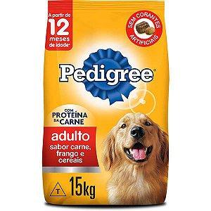Ração Pedigree Carne Frango e Cereais para Cães Adultos 15 kg