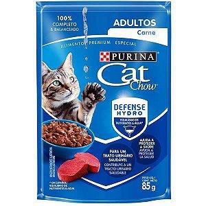 Ração Úmida Nestlé Purina Cat Chow Sachê Adultos Carne ao Molho