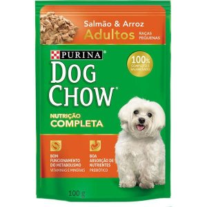 Ração Nestlé Purina Dog Chow Adultos Raças Pequenas Sachê Salmão e Arroz