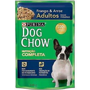 Ração Nestlé Purina Dog Chow Adultos Raças Pequenas Sachê Frango e Arroz