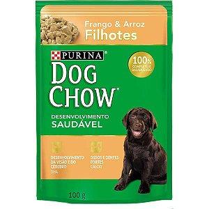 Ração Nestlé Purina Dog Chow Filhotes Sachê Frango e Arroz