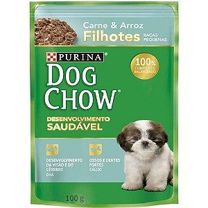 Ração Úmida Dog Chow Sachê Filhotes R Pequenas Carne E Arroz