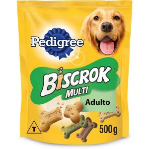 Biscoito Pedigree Biscrok Multi para Cães Adultos 500 g