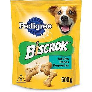 Biscoito Pedigree Biscrok para Cães Adultos de Raças Pequenas 500 g
