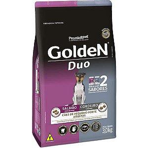 Ração Golden DUO Cães Adultos Mini Bits Salmão e Cordeiro e Arroz 3 Kg