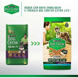 Ração Dog Chow Extra Life Frango e Arroz Cães Adulto 7+