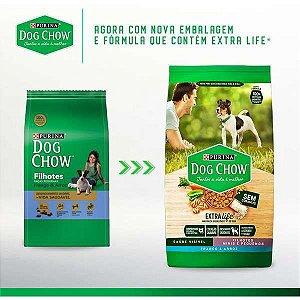 Ração Dog Chow Extra Life Frango e Arroz Cães Filhotes Raças Pequenas