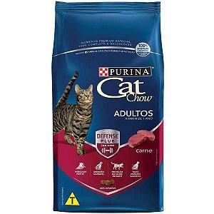 Ração Cat Chow Adultos Defense Plus Carne 3 kg