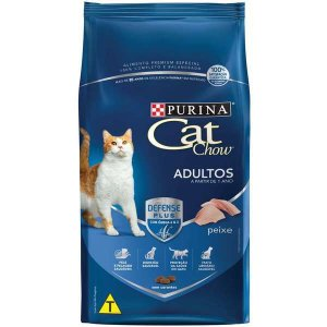 Ração Cat Chow Adultos Defense Plus Peixe 3 kg