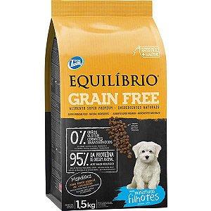 Ração Equilíbrio Grain Free Cães Filhotes Raças Miniaturas 1,5 kg