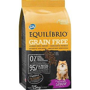Ração Equilíbrio Grain Free Cães Sênior Raças Miniaturas 1,5 kg