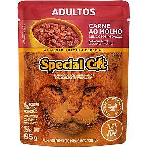 Ração Úmida Special Cat Sachê Carne para Gatos Adultos 85 g