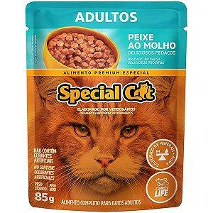 Ração Úmida Special Cat Sachê Peixe para Gatos Adultos 85 g