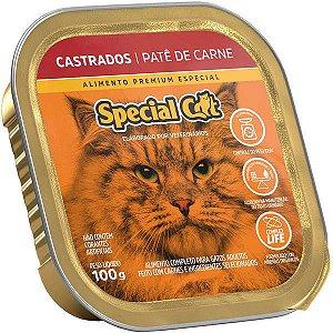 Ração Úmida Special Cat Patê Carne para Gatos Castrados 100 g