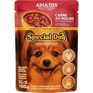 Ração Úmida Special Dog Sachê Carne para Cães Raças Pequenas 100 g