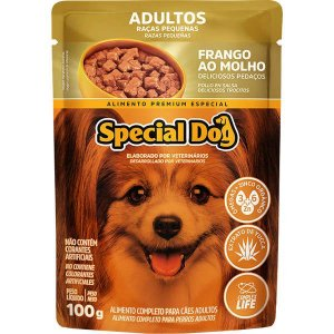 Ração Úmida Special Dog Sachê Frango para Cães Raças Pequenas 100 g