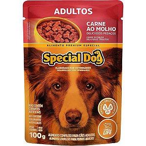 Ração Úmida Special Dog Sachê Carne para Cães Adultos 100 g