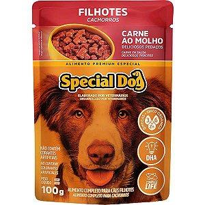 Ração Úmida Special Dog Sachê Carne para Cães Filhotes 100 g