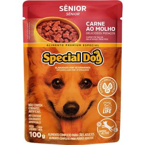 Ração Úmida Special Dog Sachê Carne para Cães Sênior 100 g