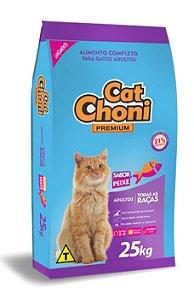 Ração Cat choni Premium para Gatos Sabor Peixe 25 kg