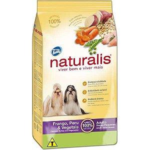 Ração Naturalis Frango,Peru e Vegetais Cães Adultos Raças Pequenas 2 kg