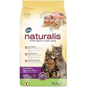 Ração Naturalis Frango e Peru para Gatos Castrados 3 kg
