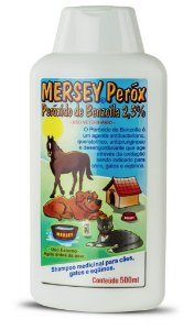 Shampoo para Cães Gatos e Equinos Mersey Peróx 500 ml
