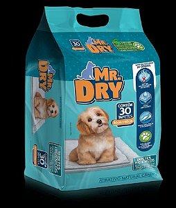 Tapete Higiênico Mr. Dry com 30 Unidades