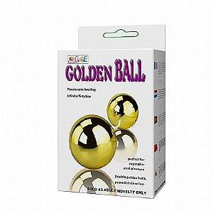 Golden Duo Ball - Bolas Duplas com Vibrador para Clitóris e Estímulo Anal - Ball