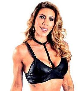 Hot Top Cirre Com Coleira Removível - Tam único - preto