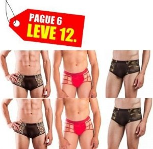 PAGUE 6 LEVE 12 Sungas Masculina  Hot Flowers