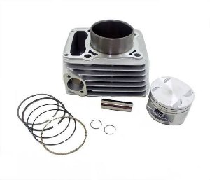 KIT MOTOR 250CC (CILINDRO/PISTAO/ANEIS) CBX 250 TWISTER 01/08 - SOLIDEZ