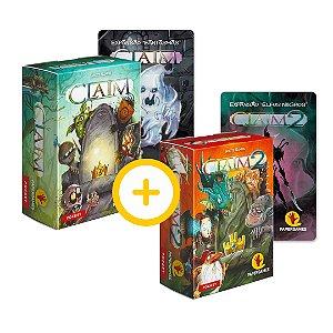 2-Pack Papergames - Claim + Claim 2 (com expansões)