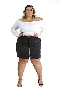 Cropped Plus Size Abraço Branco