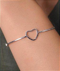 Bracelete Com Coração Vazado.