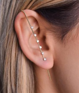 Ear Pin Com Seis Zircônias