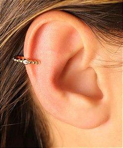 Piercing Fake de Bolinhas Com Zircônia No Meio