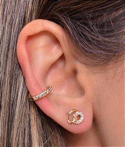 Micro piercing fake com zirconia