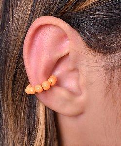Piercing fake de miçanga laranja