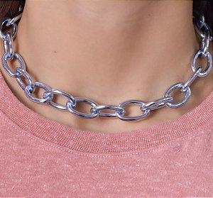 Colar Correntaria elos M Blue Chain Claro