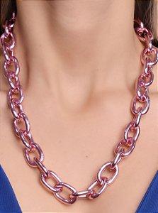 Colar corrente elos M 45 cm. Pink Chain