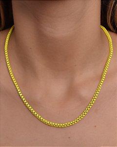 Corrente estilo veneziana resinada amarela G